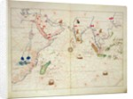 The Indian Ocean by Battista Agnese