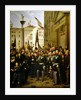 Victor Emmanuel II decorating the flag with the gold medal on 10th June 1848 in Vicenza by Domenico Peterlin