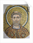 St. Ursicinus: Fragment of a mosaic from the Basilica Ursiana, the former cathedral of Ravenna by Italian School