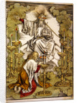 St. John on the Island of Patmos receives inspiration from God to create the Apocalypse by Albrecht Dürer