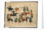 Miniature from the 'Memorie Turchesche' depicting horse traders by Venetian School