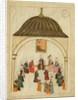 Miniature from the 'Memorie Turchesche' depicting the Imperial Hall in the Topkapi Palace, Constantinople by Islamic School