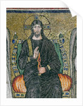 Christ enthroned with the angels by Byzantine School