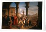 The Dedication of Trieste to Austria by Cesare Felix dell' Acqua