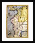 Map of the gold-bearing regions in Peru by Joan Blaeu