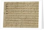 Score of the Kyrie Eleison from the 'Messa a quattro voci', 18th century copy by Giovanni Pierluigi da Palestrina