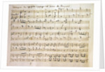 Ouverture from the score of 'Spring' by Joseph Haydn
