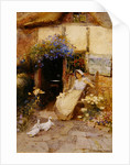 At the Cottage Door by Thomas Mackay