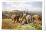 Resting in the Field by Charles James Adams