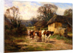 By the Barn by Charles James Adams