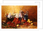 Still life of flowers and fruit by Hubert Bellis