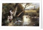 By the Stream by Myles Birket Foster