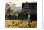 By the Farmhouse by Evariste Carpentier