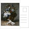 Daisies and Cornflowers by Eugene Henri Cauchois