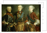 Paul, Frederick II and Gustav Adolph of Sweden by German School