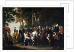King Frederick II's return from Preussen von Manoever by German School