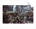 The Market of Verona by Adolph Friedrich Erdmann von Menzel