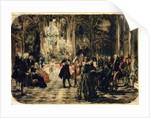 Sketch for The Flute Concert by Adolph Friedrich Erdmann von Menzel