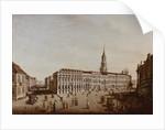 View of Castle Street and the Fiaker Square, Potsdam by Johann Friedrich Meyer