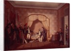 General de Marmont shows Bonaparte the captured flags of Montenetto and Cossaria by Italian School
