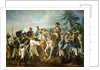 Napoleon and the Bavarian and Wurttemberg troops in Abensberg by Jean Baptiste Debret