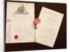The documents and medal from Francois Becherel's appointment as knight of the Legion of Honour on 17th July 1802 by French School