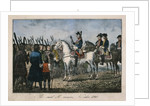 Frederick the Great with the farmers by German School