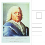 Portrait of Johann Sebastian Bach by Gottlieb Friedrich Bach