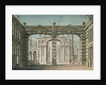 Set design for the world premiere performance of 'Idomeneo' in Munich by Lorenzo I Quaglio