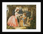 Count Almaviva kneels before his wife in contrition by from 'The Marriage of Figaro' by Wolfgang Amadeus Mozart