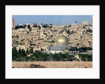 The Dome of the Rock, built AD 692, and the city beyond by Islamic School