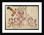 B.R. 232 fol.70r A human sacrifice from the Codex Magliabechiano by Aztec