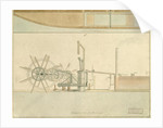 Paddle-wheel, a perspective view of the machinery drawn for R. Fulton by Anonymous