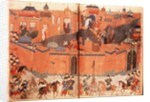 Mongols under the leadership of Hulagu Khan storming and capturing Baghdad in 1258 by Anonymous