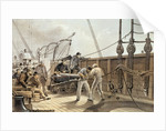 Splicing the Trans-Atlantic telegraph cable (after the first accident) on board the 'Great Eastern' by Robert Dudley