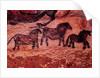 Rock painting of tarpans (ponies) by Prehistoric