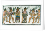 Book IX Aztec musicians from an account of Aztec crafts in Central Mexico by Spanish School