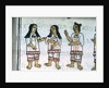Book IX Female Aztec costumes by Spanish School