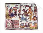 Montezuma II receiving tributes by Spanish School