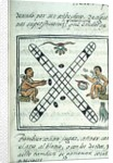 Ms Palat. 218-220 Book IX Aztec men gambling Patoli by Spanish School
