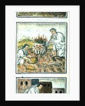Book IX Melting and casting gold in the Aztec empire by Spanish School