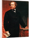 Portrait of Samuel Colt, inventor of the revolver by American School