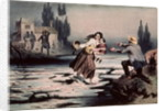 Eliza crossing the ice floes of the Ohio river to freedom by Adolphe Jean-Baptiste Bayot
