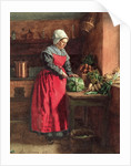 Cook with Red Apron by Leon Bonvin