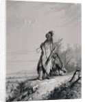 Sioux Indian Guard by Alfred Jacob Miller