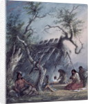 Indian Lodge by Alfred Jacob Miller