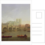 Westminster Abbey and Westminster Bridge Seen from the South by Joseph Farington
