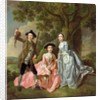 George Rogers with his Wife, Margaret, and his Sister, Margaret Rogers by Francis Hayman