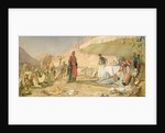 A Frank Encampment in the Desert of Mount Sinai by John Frederick Lewis