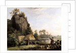 Two Gentlemen Going a Shooting, with a View of Creswell Crags, Taken on the Spot by George Stubbs